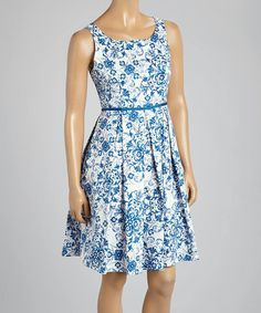 Love this Blue & White print Spring/Summer Dress♥