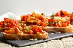 Brie and Red Pepper Crostini from Big Girls Small Kitchen (http://punchfork.com/recipe/Brie-and-Red-Pepper-Crostini-Big-Girls-Small-Kitchen)