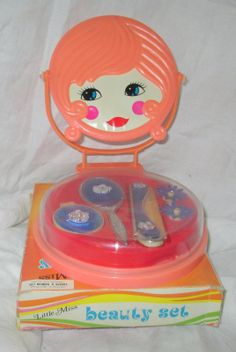 1970s Childrens Toy Beauty LITTLE MISS Vanity Set  by GingerNIrie, $15.00
