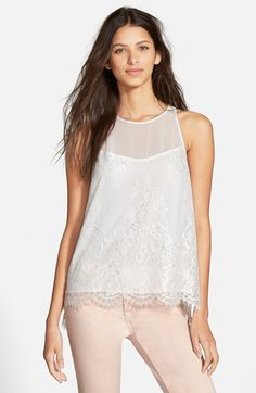 Sam Edelman Lace Back Zip Top available at #Nordstrom