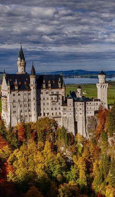 Wallpaper Лес, Germany, Bavaria, Германия, Осень, Замок Нойшванштайн, Бавария. Nature | PicsFab.com - Desktop Wallpapers