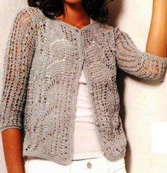 Chaqueta elegante (crochet)
