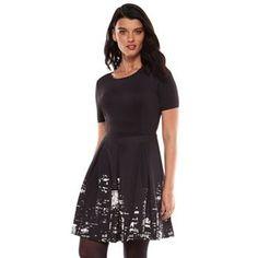 Elie Tahari for DesigNation NYC Skyline Fit & Flare Dress