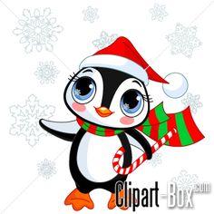CLIPART CHRISTMAS PENGUIN