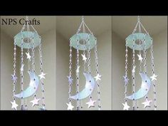 Diy wall decor 241927811220206821 - How to make🌜&🌟wall Hanger with waste CD Old Cd Crafts, Diy Home Crafts, Crafts With Cds, Diy Wand, Recycled Cds, Recycled Crafts, Cd Diy, Creation Deco, Wall Hanger