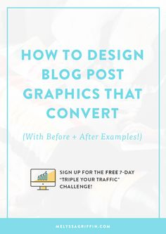Designing graphics for blog posts that capture the reader's attention.