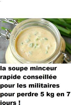 la soupe minceur rapide conseillée pour les militaires pour perdre 5 kg en 7 jours !