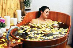 relaxante e delicioso banho ofurô com sais de DMAE www.kantui.com.br