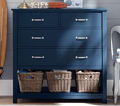 Best Navy With Silver Fab Furniture Extra Wide Dresser 400 x 300