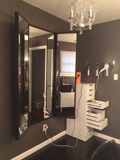 Hair Station   DIY Makeup Storage and Organization Ideas