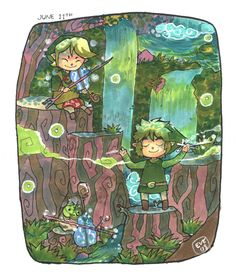 so adorable!!!  Minuet of forest by *nayruchan