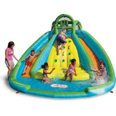 Compare prices on Little Tikes Rocky Mountain River Race Water Slides from top online watersport equipment retailers. Save money on inflatable water slides and accessories. Water Slide Bounce House, Kids Water Slide, Water Slides, Pool Slides, Pool Water, Water Play, Inflatable Water Park, Inflatable Bounce House, Inflatable Bouncers