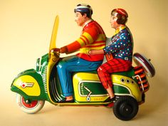 tin toy scooter, 1950s