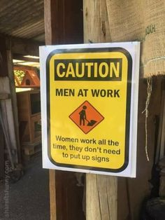 Caution Men At Work - https://shareitsfunny.com/caution-men-at-work/ - Funny Pictures on  Share Its Funny  #cautionmenatworksign