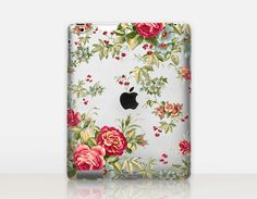 Vintage Floral Transparent iPad Case For  iPad 2 iPad 3 by CRCases
