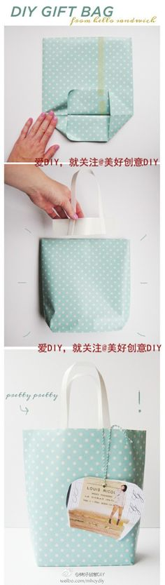 Cute And Incredibly Useful Gift Wrap DIYs How to DIY Gift Bags from old wrapping paper!How to DIY Gift Bags from old wrapping paper! Paper Gift Bags, Paper Gifts, Homemade Gifts, Diy Gifts, Homemade Bags, Noel Gifts, Cheap Gifts, Craft Gifts, Papier Diy