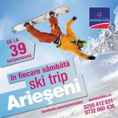 Sky Trip Arieseni - excursie la sky si snowboard organizata de Euromaidec Touring cu destinatia Vartop, Arieseni.