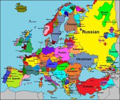 it confuses between accent and dialect;French-Occitan, German-Low German, English-Scots are the same language but with different accents (like English Geordie vs English Cockney) Geography Map, World Geography, European History, World History, European Languages, Map Globe, Old Maps, Historical Maps, Genealogy
