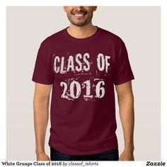 White Grunge Class of 2016 Tee Shirts