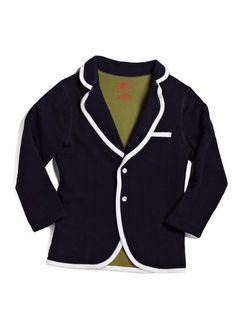 Prep school blazer - from Soft Clothing - via @babycenter