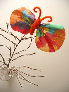 Kindergarten Holidays & Seasons Activities: Coffee Filter Butterflies
