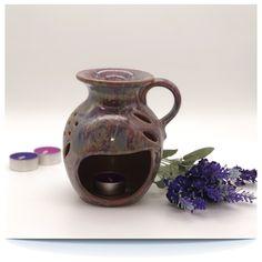 XL Duftlampe Keramik – ca. 15cm Höhe – Handarbeit  – für ätherische Öle - Lavendelparadies Home Decor, Lavender, Handarbeit, Decoration Home, Room Decor, Interior Design, Home Interiors, Interior Decorating