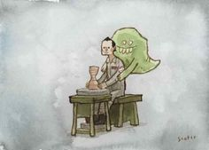 That scene from Ghost more accurately portrayed by Bill Murray and Slimer - Scott C