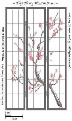 Nuestras MiniaturaS - ImprimibleS: Biombo Japonés