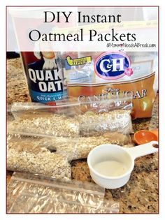 DIY Instant Oatmeal Packets. I love this idea for my Shrinking On A Budget Meal Plan. I like to provide breakfast ideas that are portable since so many of my subscribers work outside the home. This is genius!