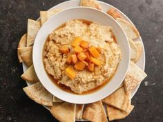"""Butternut Squash Hummus (Cook Like a Pro: Roasted Vegetables) - Ina Garten, """"Barefoot Contessa"""" on the Food Network."""