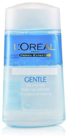 L'oreal Dermo-Expertise Gentle Lip And Eye Make-Up Remover Eye Make-up Remover, Make Up Remover, Lip Care, Eye Make Up, How To Remove, How To Make, Loreal, Cleanse, Water Bottle