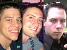 From left to right: Jon Blunk, Alex Teves and Matt McQuinn were killed at a midnight movie theater shooting in Aurora, Colo., Friday while protecting their girlfriends from bullets.  (Credit: CBS News/Personal Photos)