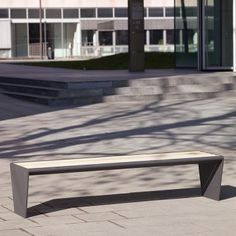 Gena Bench. A simple, elegant combination of steel frame clad in either hardwood…