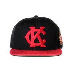 Jackie Robinson Black #42 Kansas City Monarchs 5 to 42 Monarchs Flat Bill Adjustable Hat