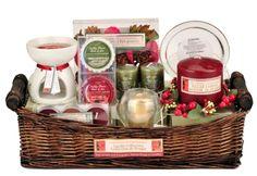 Christmas Candle Gift Basket