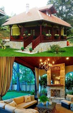 Tiny House Cabin, Tiny House Design, Cabin Homes, Cottage Homes, Log Homes, My House, Cabin Design, Pergola Designs, My Dream Home