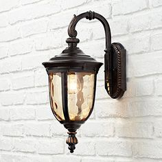 Bellagio 16 High Downbridge Outdoor Wall Light * Be sure to check out this awesome product. (This is an affiliate link) Outside Light Fixtures, Outdoor Wall Light Fixtures, Barn Lighting, Outdoor Wall Lighting, Outdoor Walls, Coach Lights, Vintage Wall Lights, Glass Panels, Lamp Light