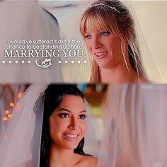 "#Glee 6x08 ""A Wedding"" - Brittany and Santana"