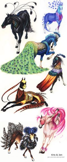 ideas fantasy art monsters mythical creatures for 2019 Creature Drawings, Horse Drawings, Cute Drawings, Animal Drawings, Drawing Animals, Drawing Birds, Wolf Drawings, Unicorn Drawing, Drawing Art