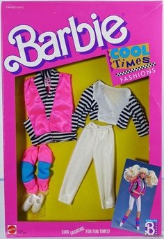 Barbie Cool Times Fashions #3322 New Never Removed from Pack 1988 Mattel, Inc. 3 | eBay