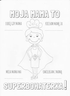 Diy For Kids, Crafts For Kids, Polish Language, Diy Toys, Art School, Activities For Kids, Coloring Pages, Diy And Crafts, Projects To Try