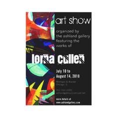 art gallery invitation from http://www.zazzle.com/art+gallery+invitations