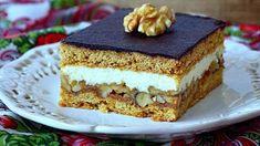 Výborný medovo orechový zákusok... Sweet And Salty, Desert Recipes, Nutella, Sweet Recipes, Tiramisu, Cheesecake, Deserts, Food And Drink, Gluten Free