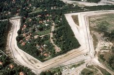 An aerial view from the southeast of Steinstücken, with Bernhard-Beyer-Straße connecting northeastwards, along the railway tracks to the rest of West Berlin. East Germany, Berlin Germany, Berlin Hauptstadt, Trump Wall, Berlin Wall, Iron Wall, Cold War, Some Pictures, Aerial View