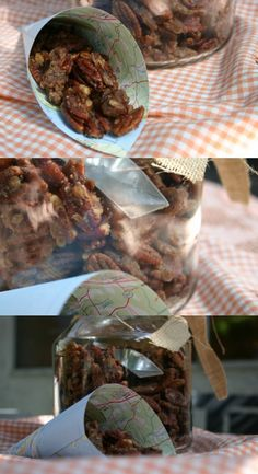 Crock pot sugared pecans. . .the smell in your house will be divine. Great for Christmas time too!