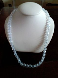 NWT Women's clear & Silver necklace and earrings #Handmade