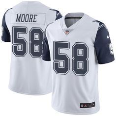 Men's Nike Dallas Cowboys #58 Damontre Moore Elite White Rush NFL Jersey