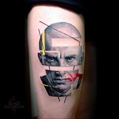 #космос #геометрия #авторскийстиль #цветнаятатуировка #татуировканаруке #татунаруке