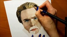 Speed Drawing: Drawing Chris Evans as Captain America in Avengers: Infin...