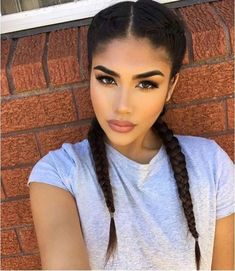 Find images and videos about girl, pretty and beauty on We Heart It - the app to get lost in what you love. Beauty Makeup, Hair Makeup, Hair Beauty, 2 Goddess Braids, Short Medium Length Hair, Coiffure Hair, Curly Hair Styles, Natural Hair Styles, Tumbrl Girls